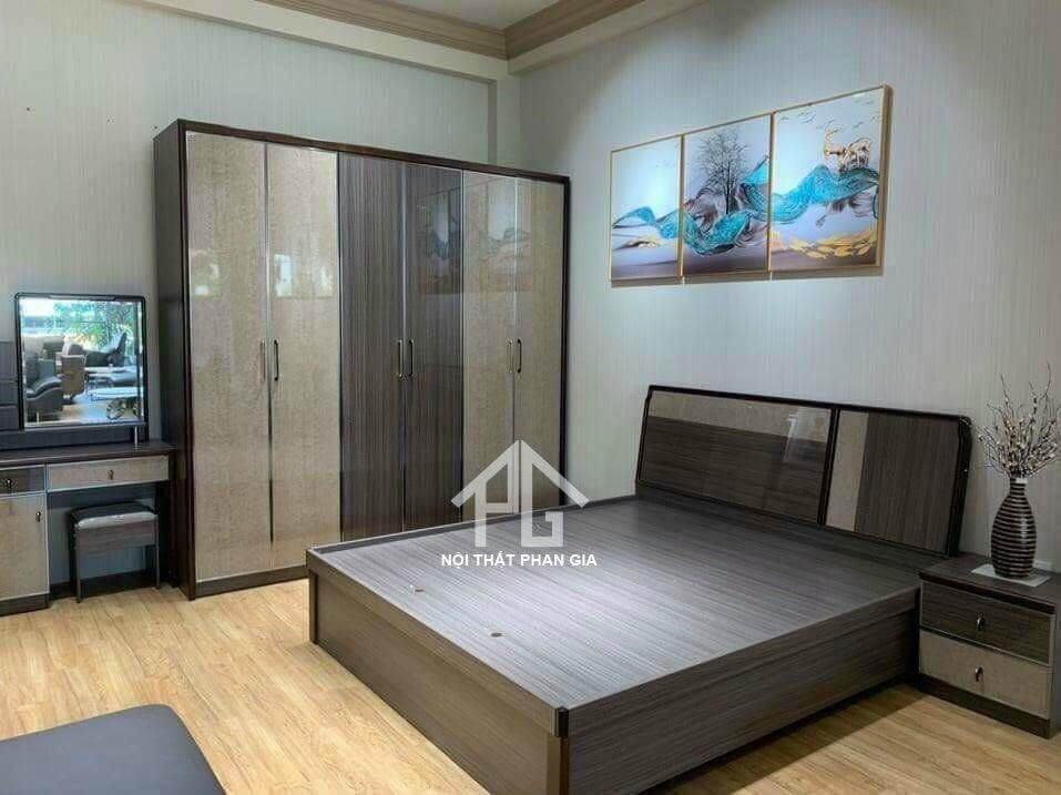 giá giường gỗ hộp;