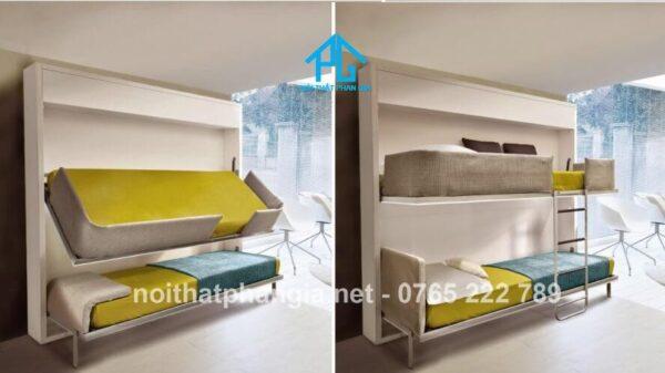 giường đa năng gấp gọn 2 tầng
