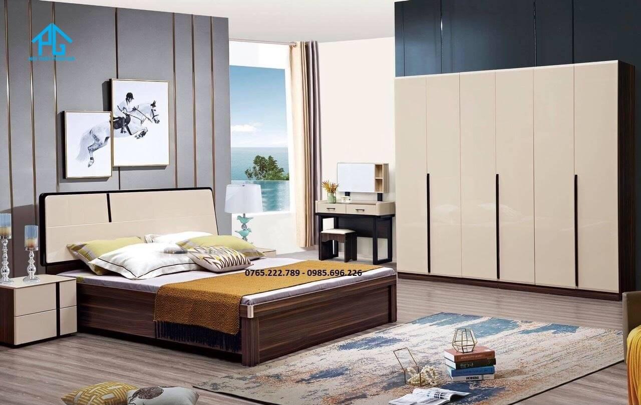 giường gỗ công nghiệp nhỏ gọn;