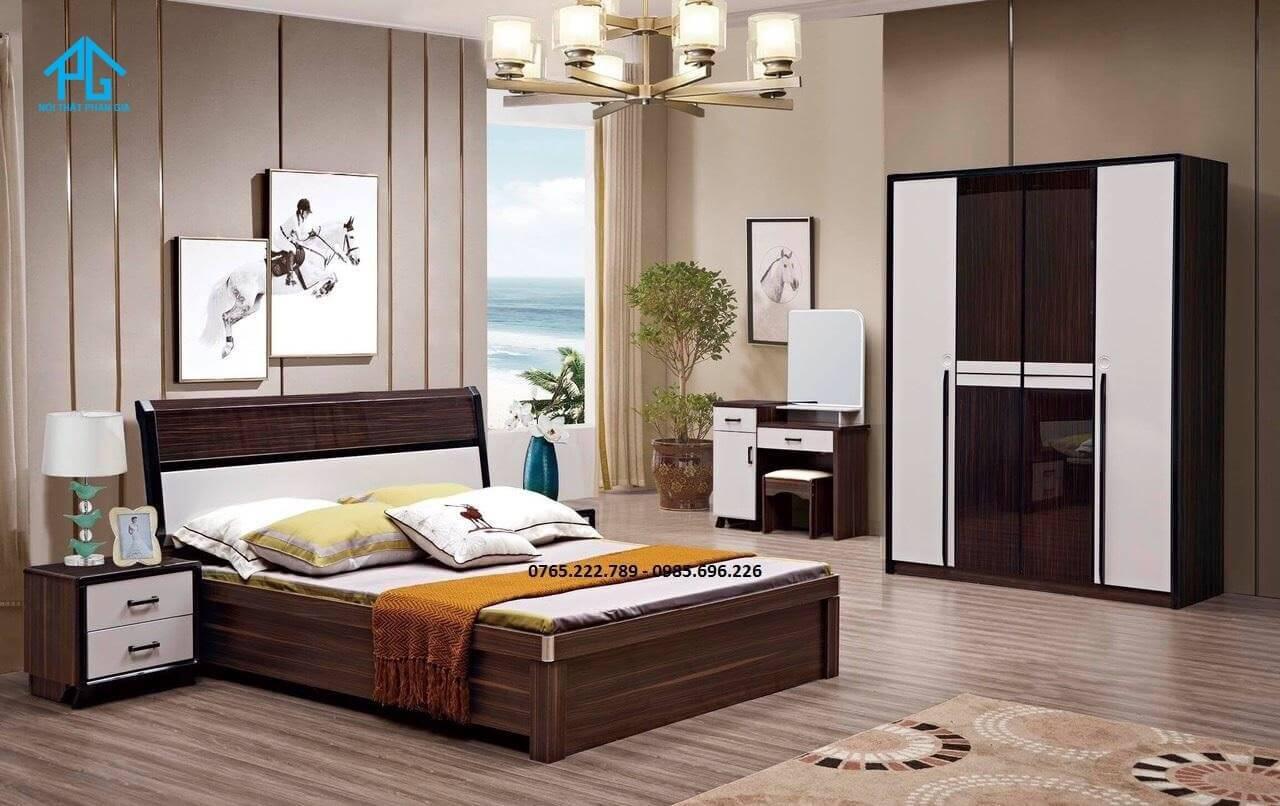 giường gỗ công nghiệp truyền thống;