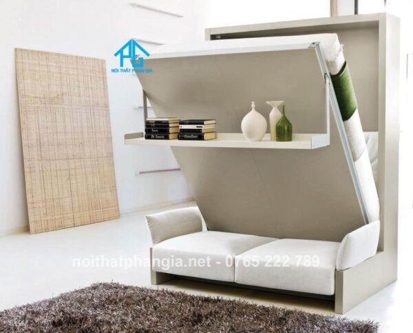 giường gỗ đa năng kết hợp sofa
