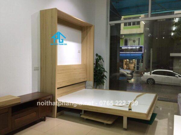 giường gỗ gấp dọc