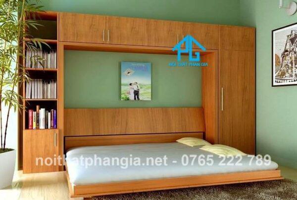 giường gỗ gấp ngang