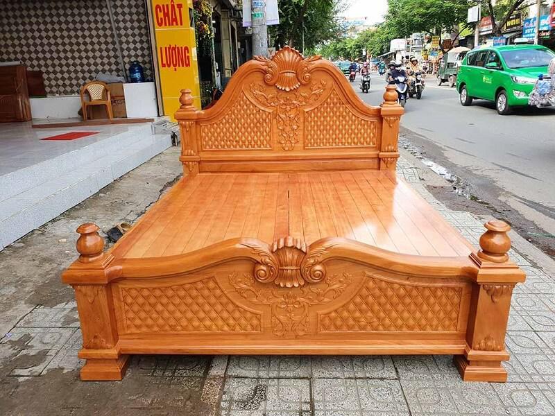 giường gỗ gõ đỏ là gì