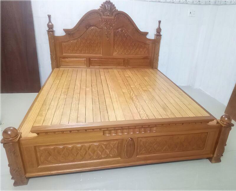giường gỗ gõ đỏ nữ hoàng