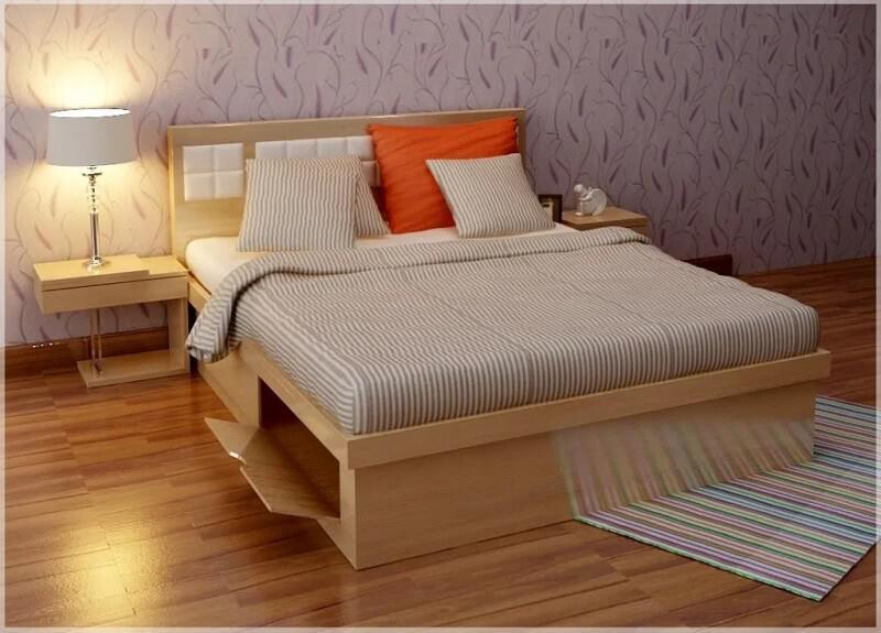 giường gỗ hộp có ngăn kéo đẹp