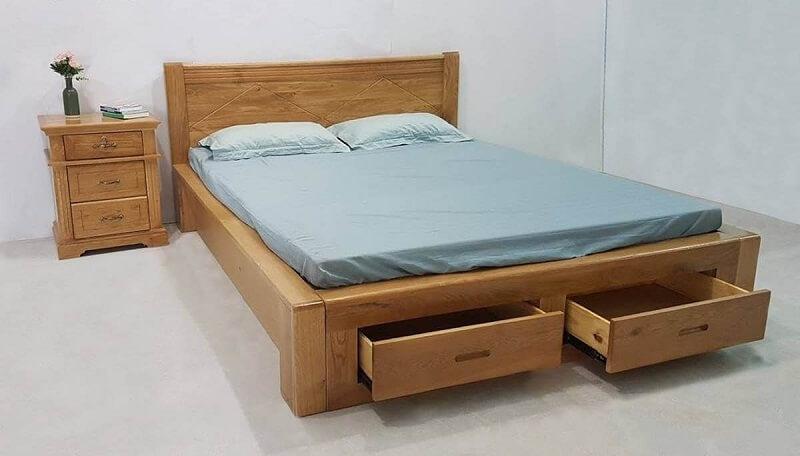 giường gỗ hộp đa năng