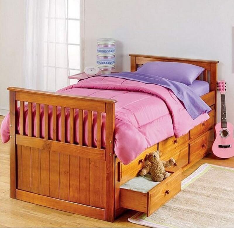 giường gỗ hộp dành cho bé đẹp