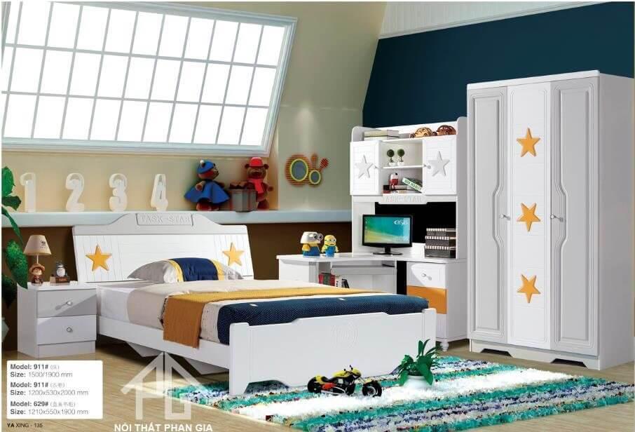 giường gỗ mdf 1m8
