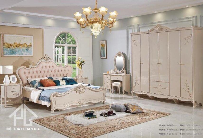 giường gỗ MDF giá rẻ