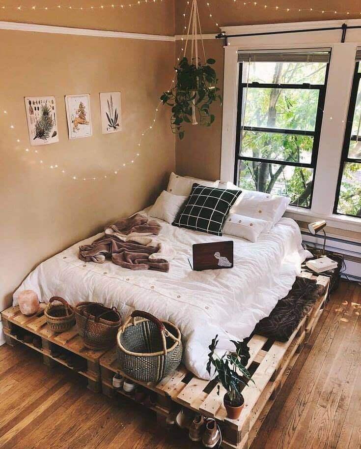 giường gỗ pallet cho homestay