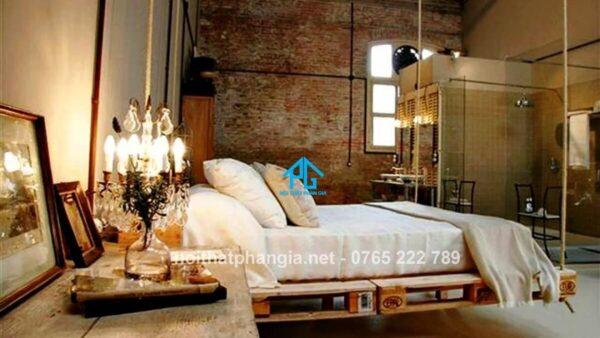 giường gỗ pallet dạng treo