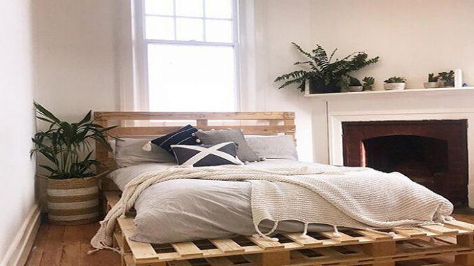giường gỗ pallet với thiết kế thông minh