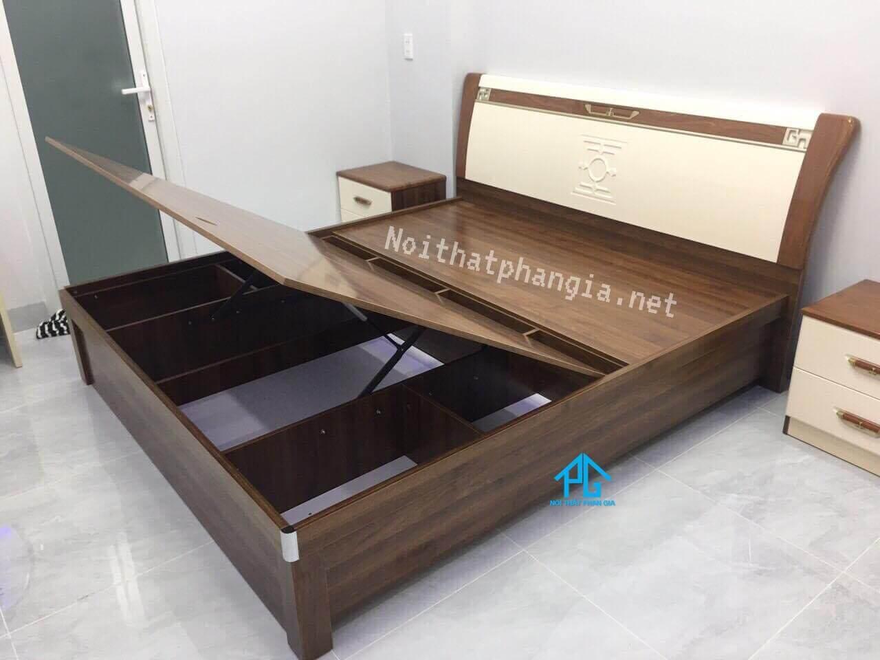 giường gỗ sồi kiểu hàng quốc