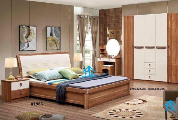 giường gỗ sồi kiểu hàn quốc