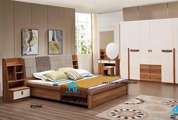 giường gỗ sồi mỹ hiện đại