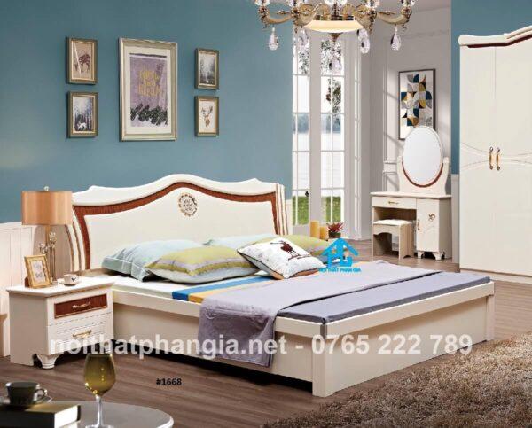 giường gỗ sồi nga cao cấp