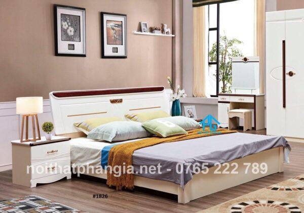 giường gỗ sồi phong cách hiện đại