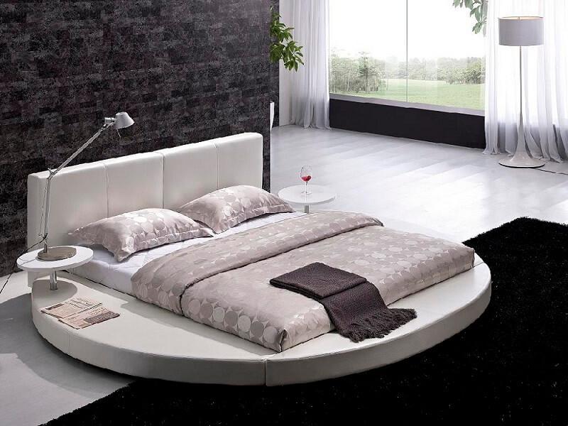 giường không chân hình tròn