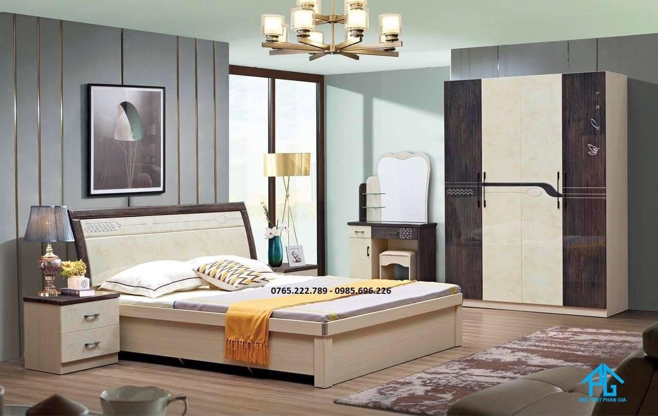giường ngủ gỗ công nghiệp ép thanh;