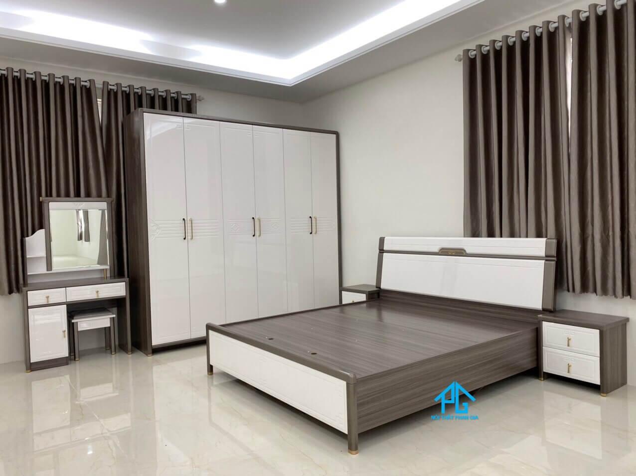giường ngủ gỗ mdf 1m6