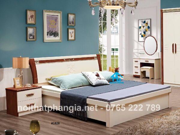 giường ngủ gỗ sồi trắng