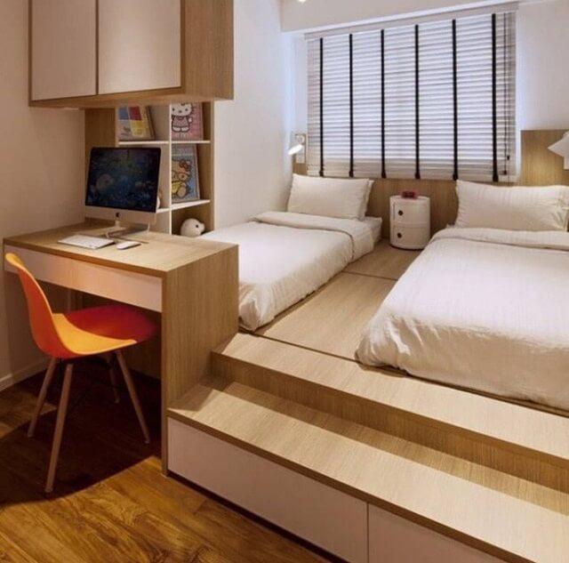 giường ngủ kết hợp bàn làm việc