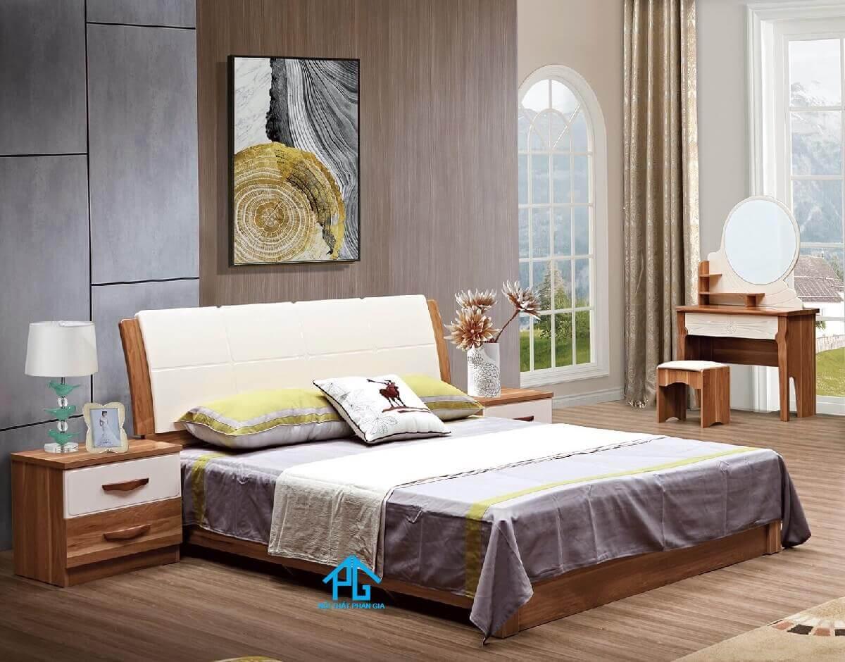 giường ngủ không chân mẫu mã hiện đại;