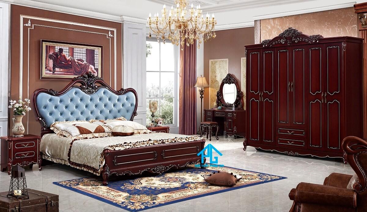 giường ngủ tân cổ điển châu Âu;