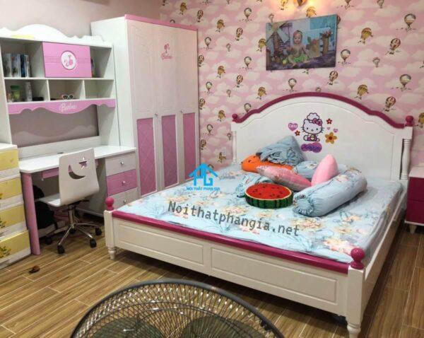 giường ngủ thiết kế gầm cao
