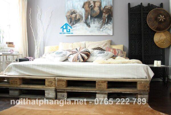 giường pallet 2 tầng