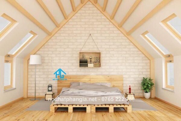 giường pallet phong cách scandinavian