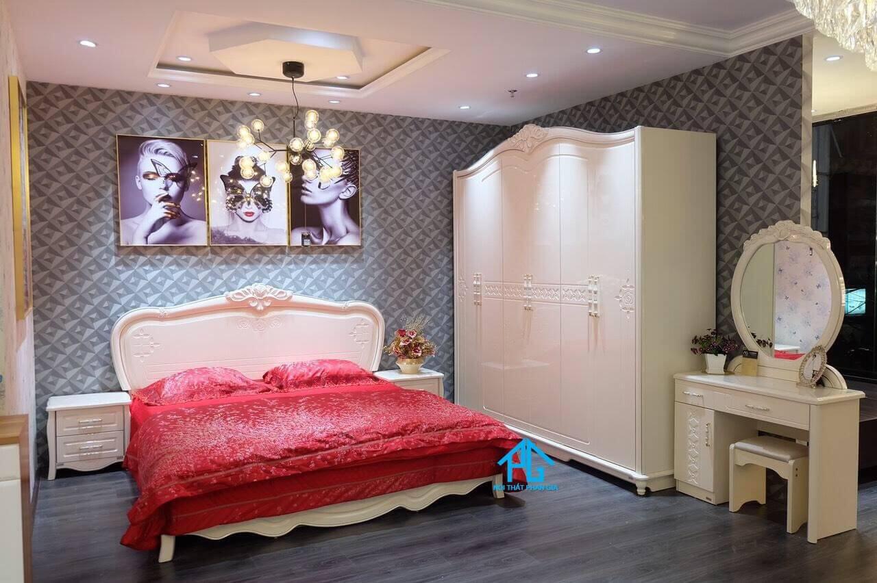 giường tầng không chân cho bé gái;