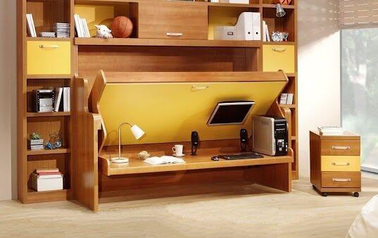 giường thông minh kết hợp bàn học