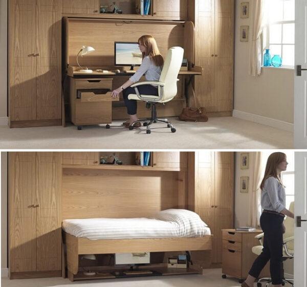 giường thông minh kết hợp bàn làm việc
