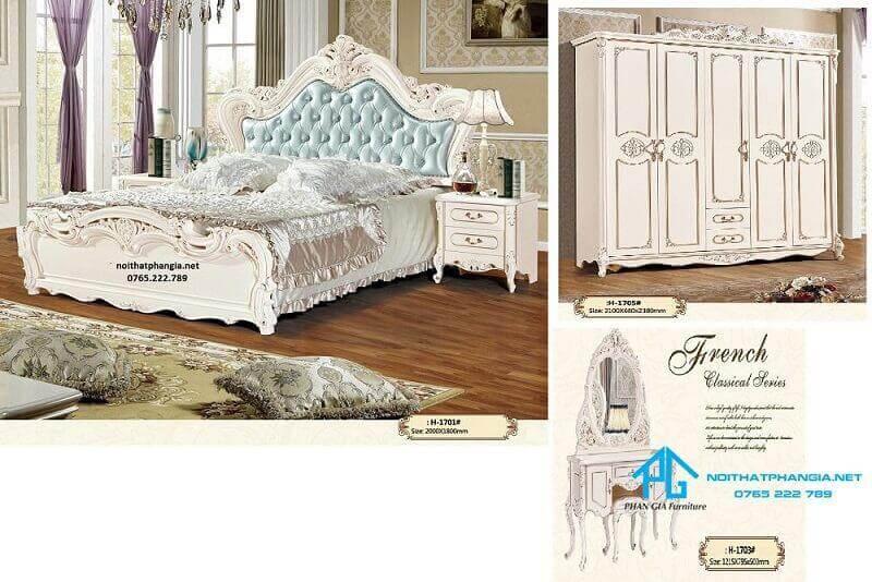 Giường tủ nhập khẩu 1701