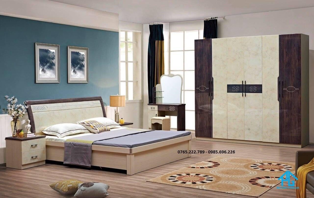giường ván ép công nghiệp sang trọng;