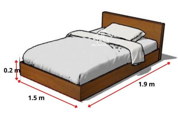 kích thước giường đơn