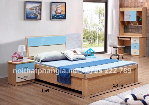 kích thước giường gỗ sồi cho bé 1m2 nhỏ nhắn