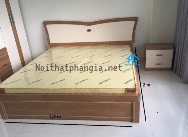 kích thước giường gỗ sồi người lớn