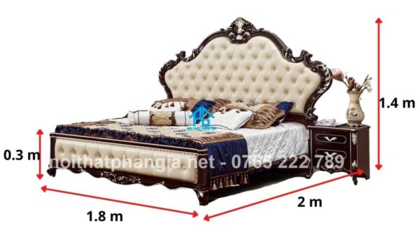 kích thước giường ngủ khách sạn