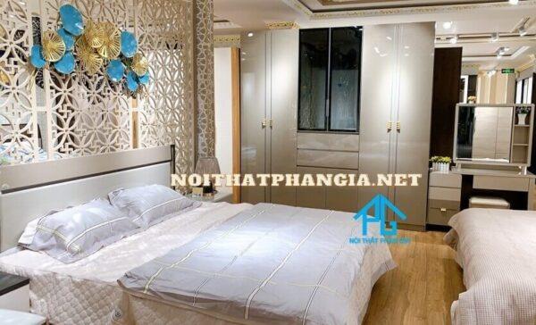 mẫu bộ giường tủ 1004 nội thất Phan Gia