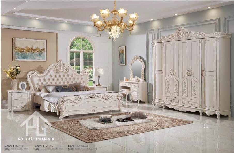 mẫu giường gỗ MDF đẹp chất lượng