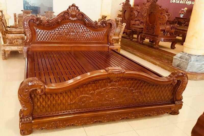 mua giường gỗ gõ đỏ ở đâu