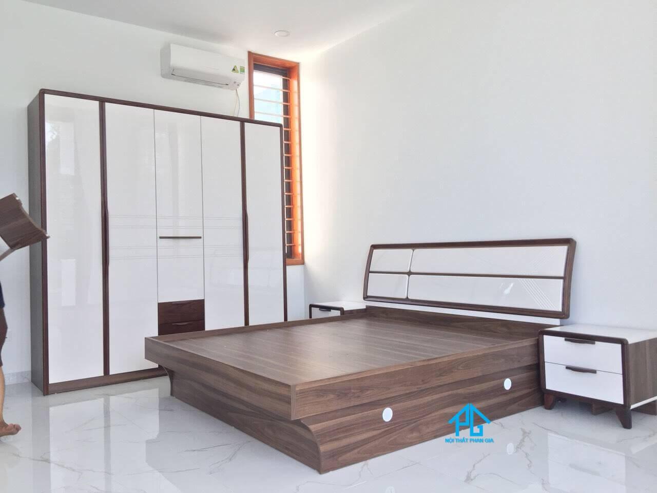 mua giường gỗ mdf thông minh hcm