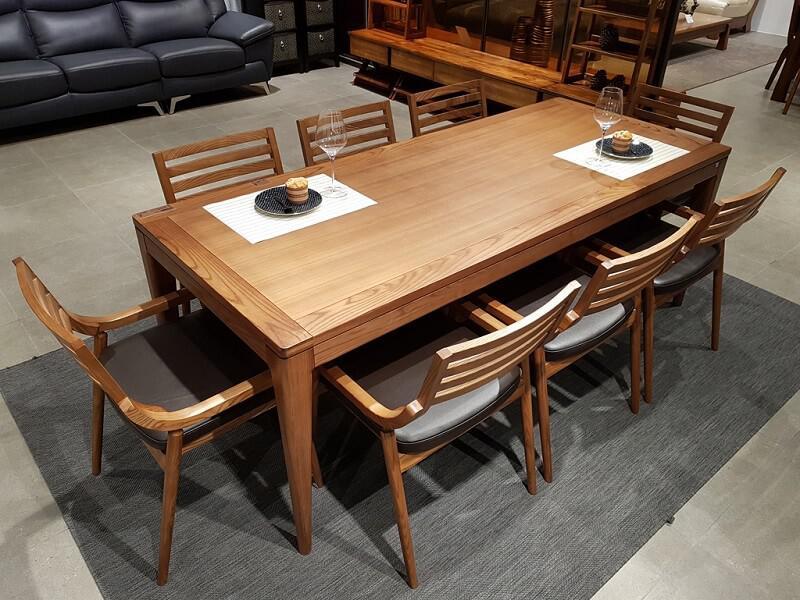 sale bàn ăn gỗ nhập khẩu giá tốt
