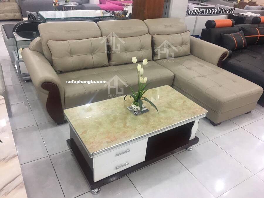 Sofa da hiện đại E04