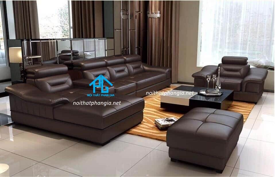Sofa da hiện đại E08