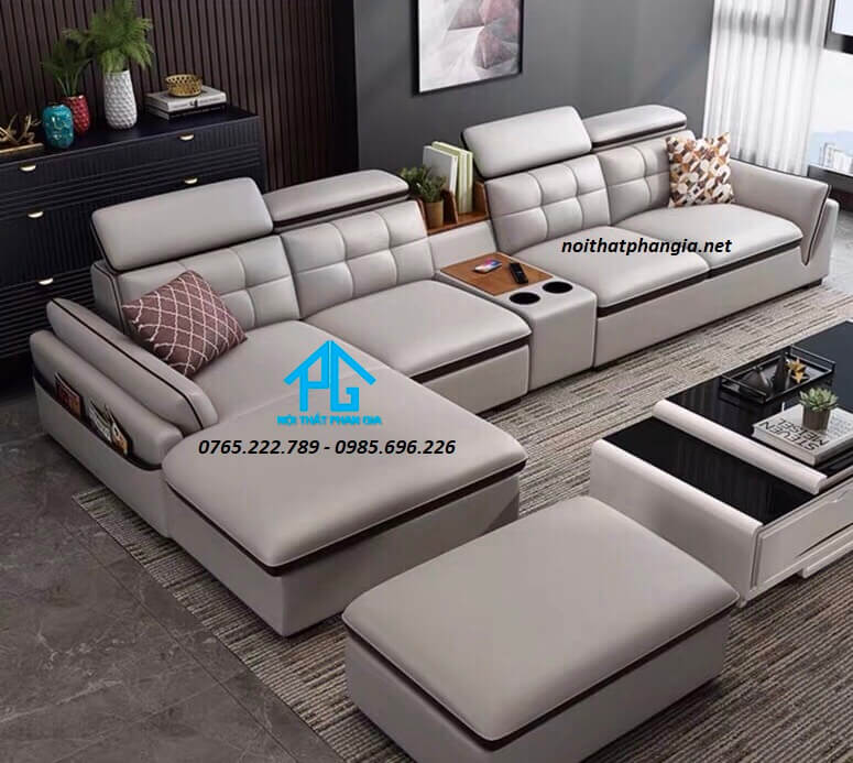 Sofa da hiện đại E09 - D