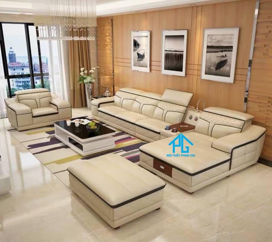 Sofa da hiện đại E19 - A